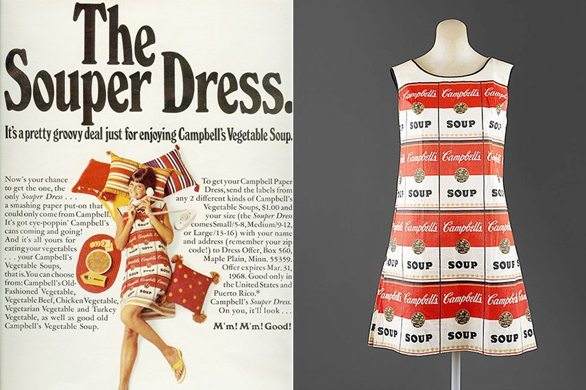 Warhol/Saint Laurent Collaboration: Campbell's Souper Dress