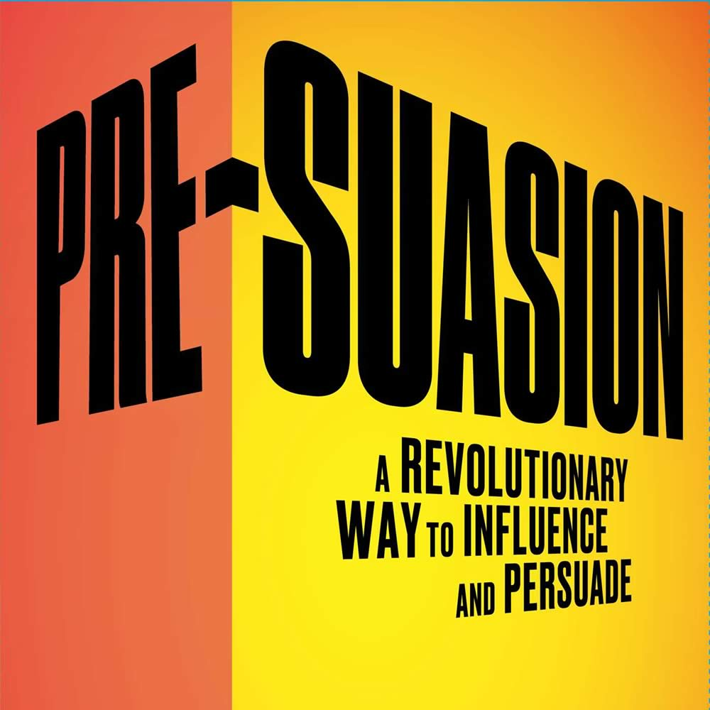 Utelier book review - Pre-Suasion - Robert Cialdini