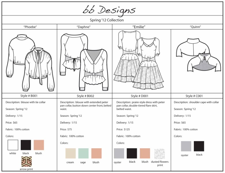 Line Sheet Definitive Guide For Wholesale Fashion Fashion Insiders