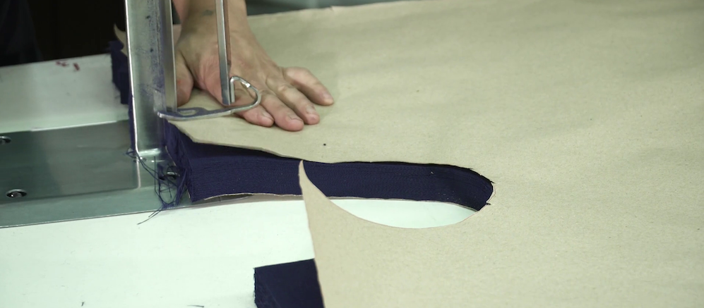 cutting fabric with marker