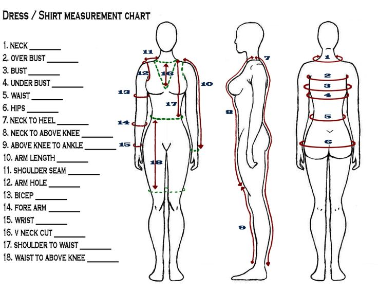 get the best out of your pattern cutter - pattern cutting body measuring chart