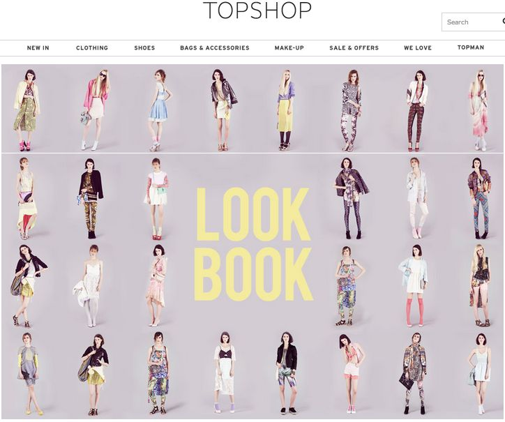fashion lookbook top shop