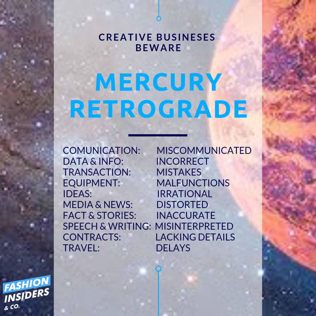 5 Tips On How Mercury Retrograde Can Work for Your Creative Business
