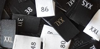 clothing size labels numbers letters