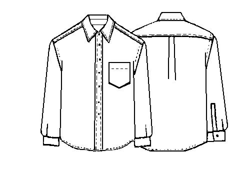 flat drawing of a shirt