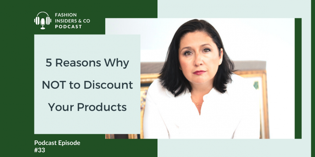 reasons not to discount your products